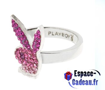Bague ajustable Playboy - Bunny Strass dégradé