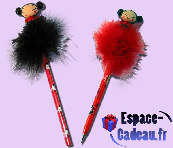 "Crayon & Stylo Roller ""Plumes\"" Pucca"