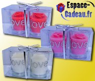 Bougies strass par 2 [LOVE]