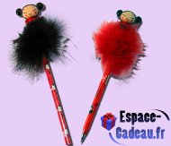 "Crayon & Stylo Roller ""Plumes"" Pucca"